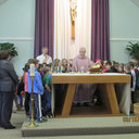 Fr. Broderick Explaining the Liturgy of the Eucharist to the Children photo album thumbnail 6