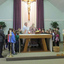 Fr. Broderick Explaining the Liturgy of the Eucharist to the Children photo album thumbnail 7